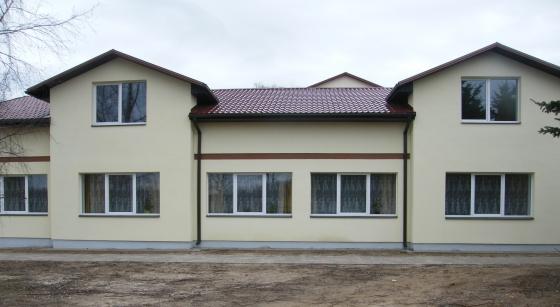 jaunā piebūve internāta un skolas telpam