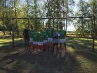 Mūsu skolas futbola komanda kopā skolotāju Baibu Medni. Izcīnīta otrā vieta!