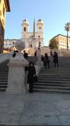 """Spāņu kāpnes pie """"Trinita dei Monti"""" baznīcas"""